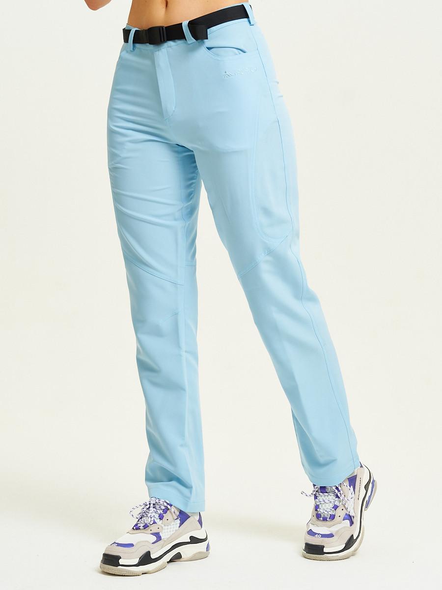 Купить оптом Спортивные брюки Valianly женские голубого цвета 33419Gl