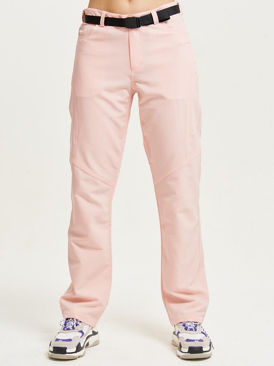 Купить оптом Спортивные брюки Valianly женские розового цвета 33419R в Екатеринбурге