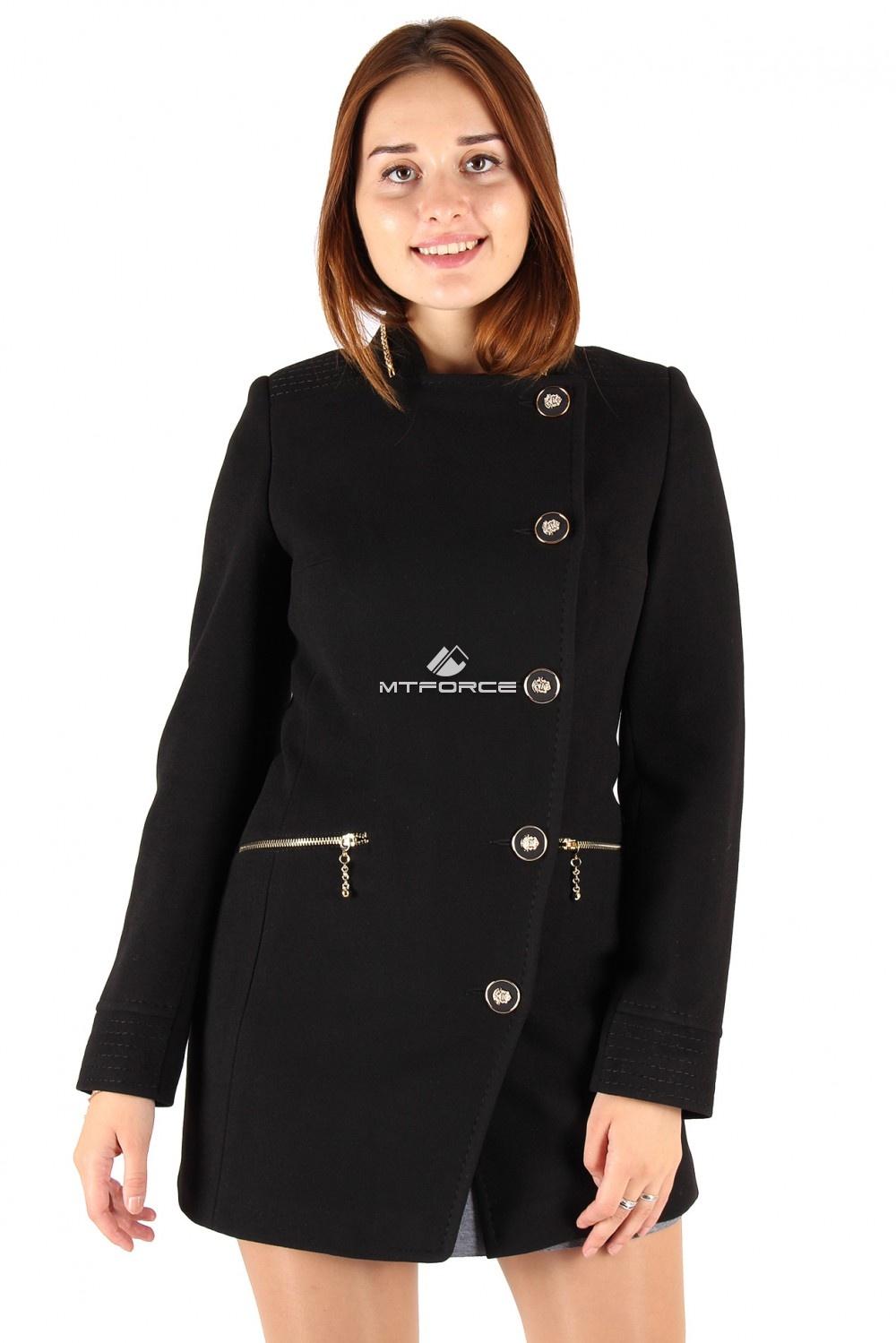 Купить                                  оптом Пальто женское черного цвета 337Ch