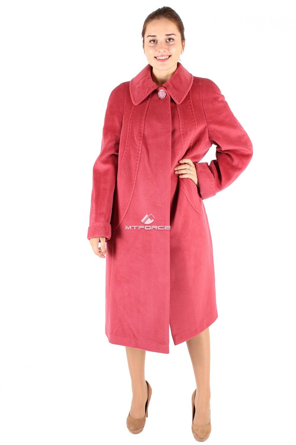 Купить                                  оптом Пальто женское малинового цвета 349-2M в Санкт-Петербурге
