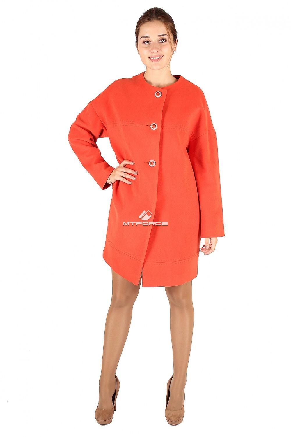 Купить                                  оптом Пальто женское оранжевого цвета 369O в Санкт-Петербурге