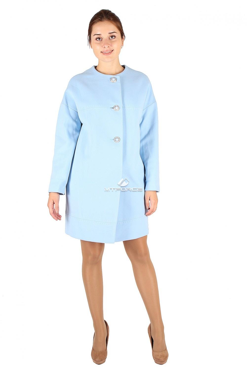 Купить                                  оптом Пальто женское голубого цвета 369Gl