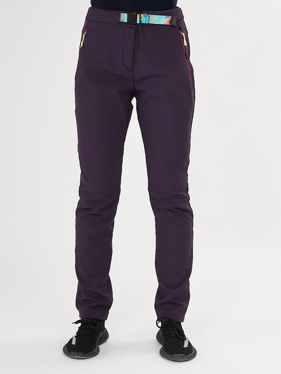 Купить оптом Брюки softshell темно-фиолетового цвета 371TF в Екатеринбурге