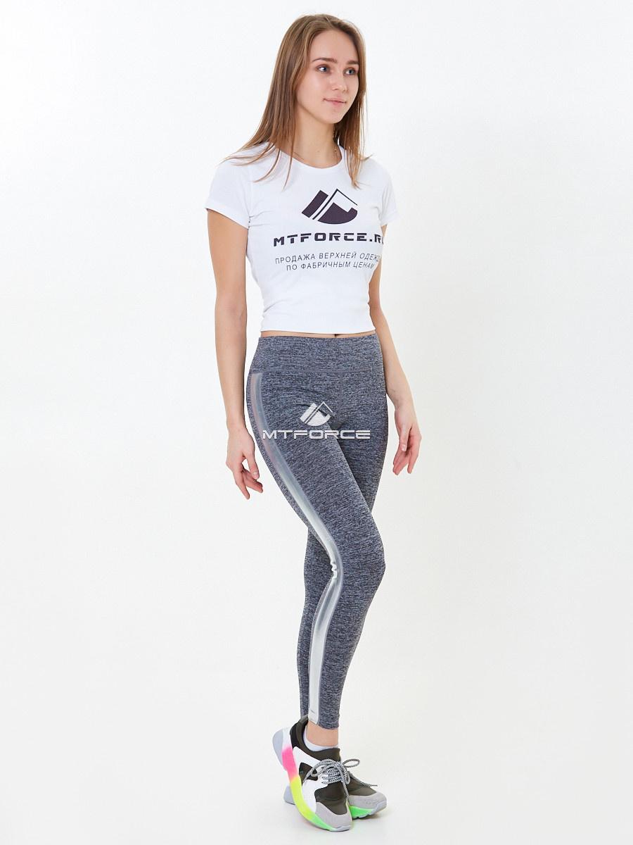Купить оптом Брюки легинсы женские серого цвета 3925Sr в Самаре
