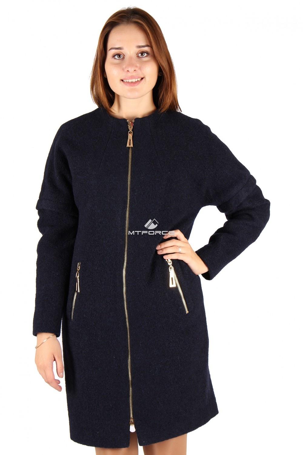 Купить                                  оптом Пальто женское черного цвета 373-1Ch в Санкт-Петербурге