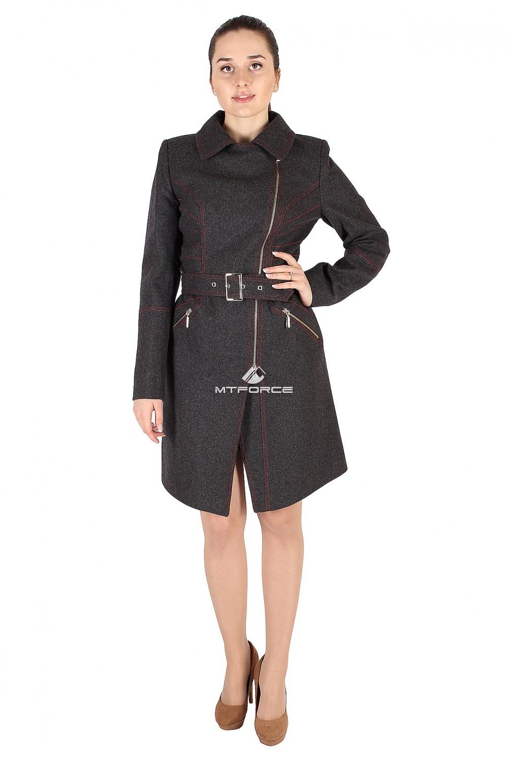 Купить                                  оптом Пальто женское темно-серого цвета 376TC