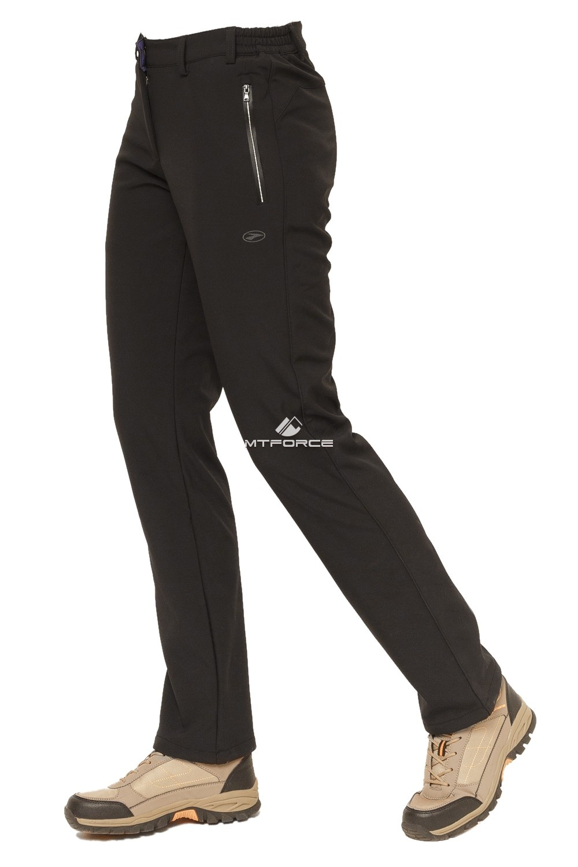 Купить оптом Брюки виндстопер женские черного цвета 38201Ch в Новосибирске