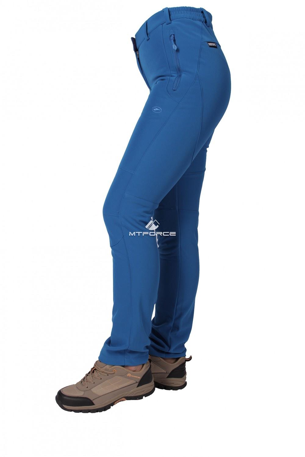 Купить оптом Брюки виндстопер женские синего цвета  3820S в Омске