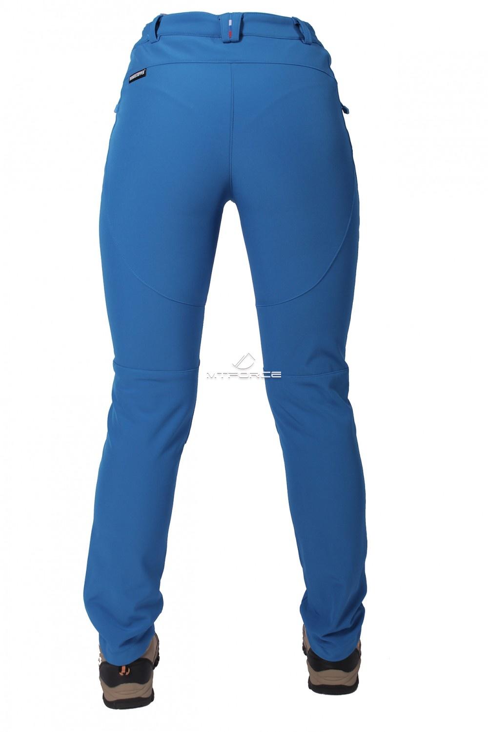 Купить оптом Брюки виндстопер женские синего цвета  3820S в Перми