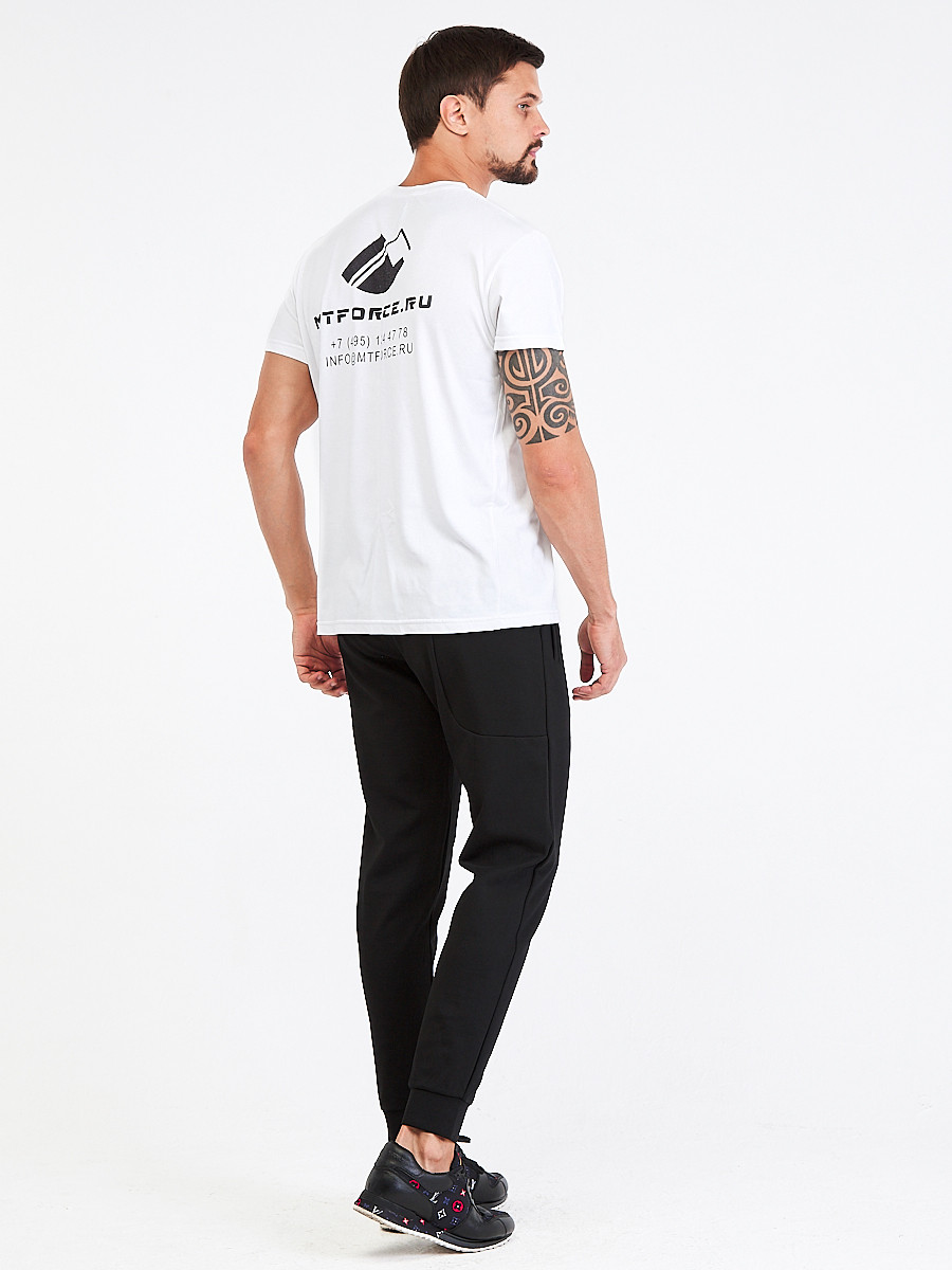 Купить оптом Брюки мужские молодежные черного цвета 3902Ch в Санкт-Петербурге