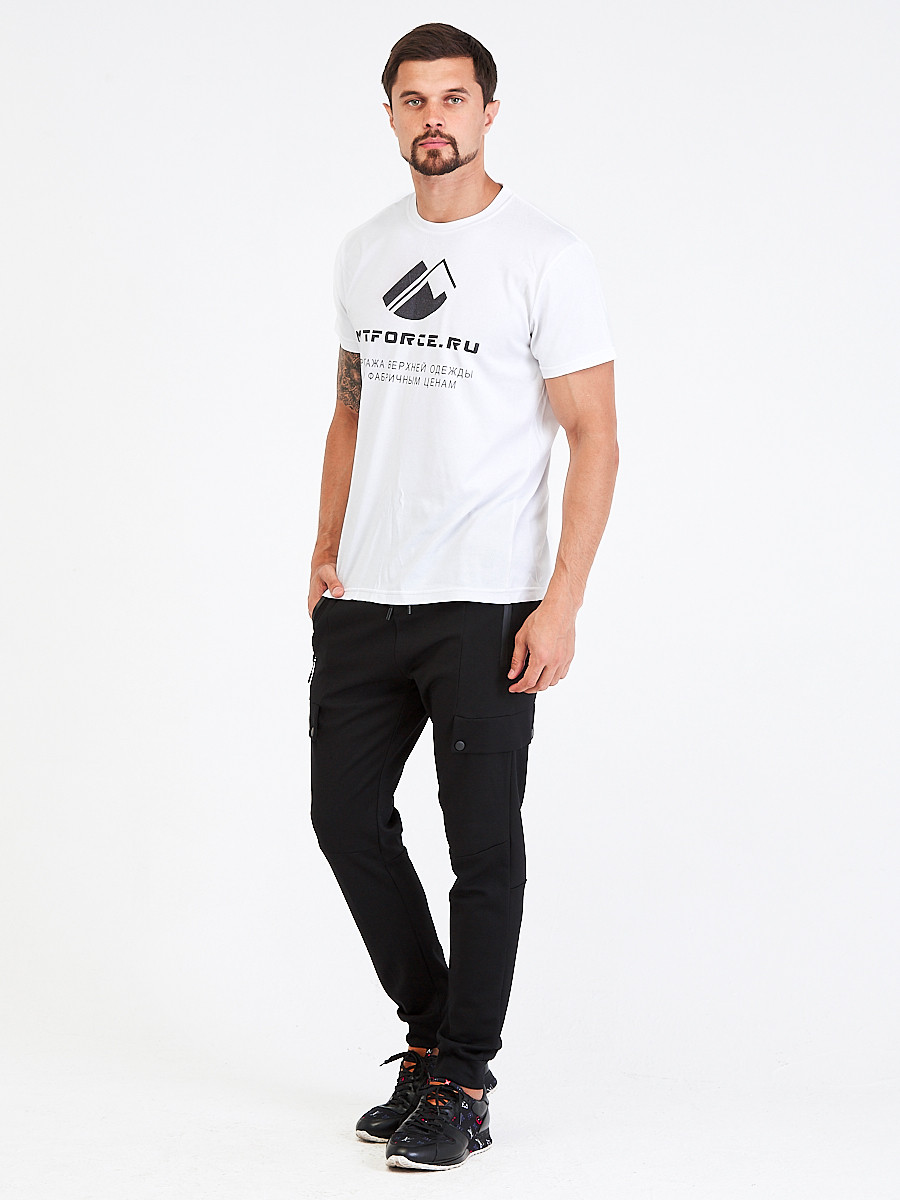 Купить оптом Брюки мужские молодежные черного цвета 3904Ch в Казани