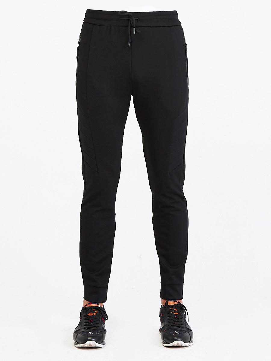 Купить оптом Брюки мужские молодежные черного цвета 3906Ch в Казани