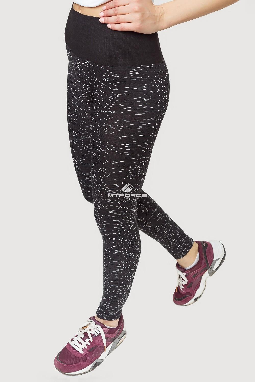 Купить оптом Брюки легинсы женские черного цвета 3907Ch в Екатеринбурге