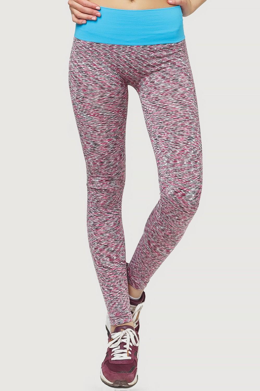 Купить оптом Брюки легинсы женские розового цвета 3907R в Омске