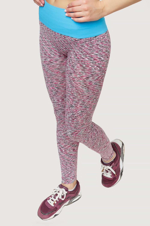 Купить оптом Брюки легинсы женские розового цвета 3907R в  Красноярске