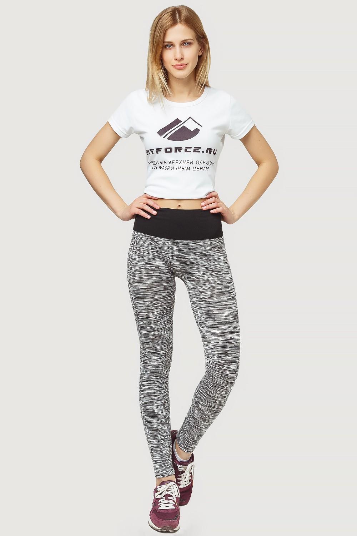 Купить оптом Брюки легинсы женские серого цвета 3907Sr в Челябинске