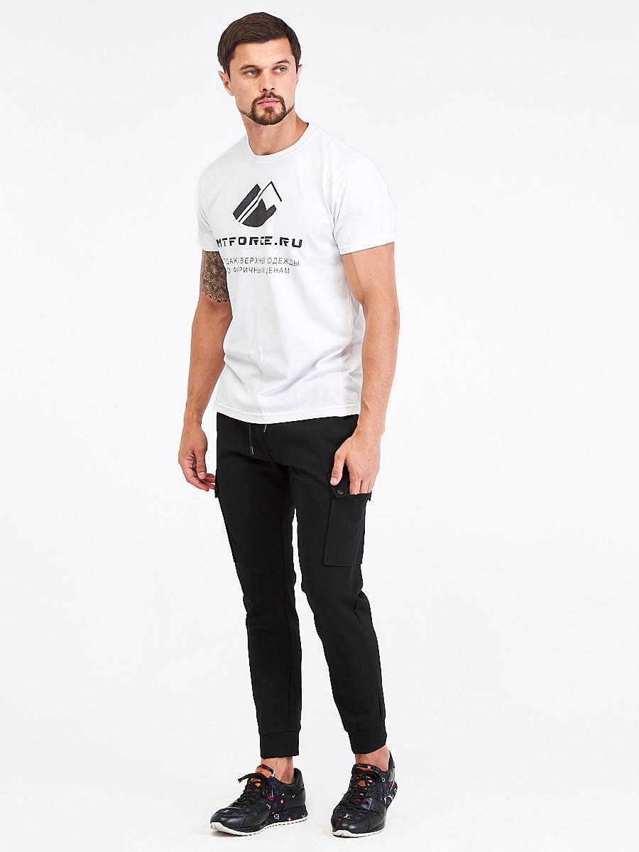 Купить оптом Брюки мужские молодежные черного цвета 3909Ch в Перми