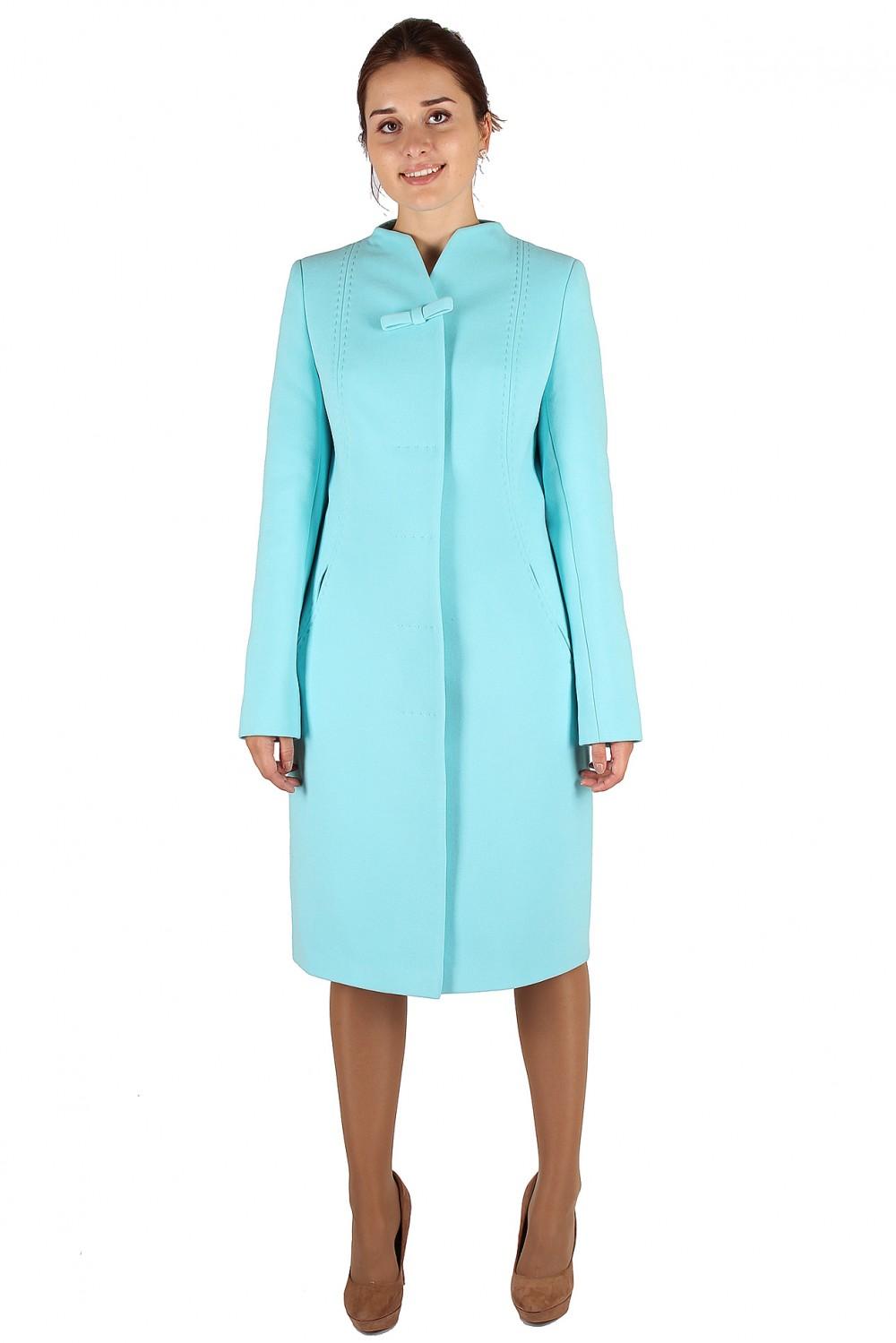 Купить оптом Пальто женское голубого цвета 391Gl