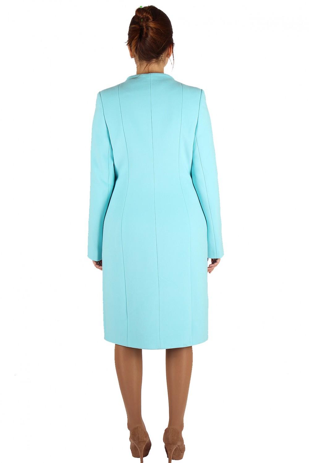 Купить оптом Пальто женское голубого цвета 391Gl в Волгоградке