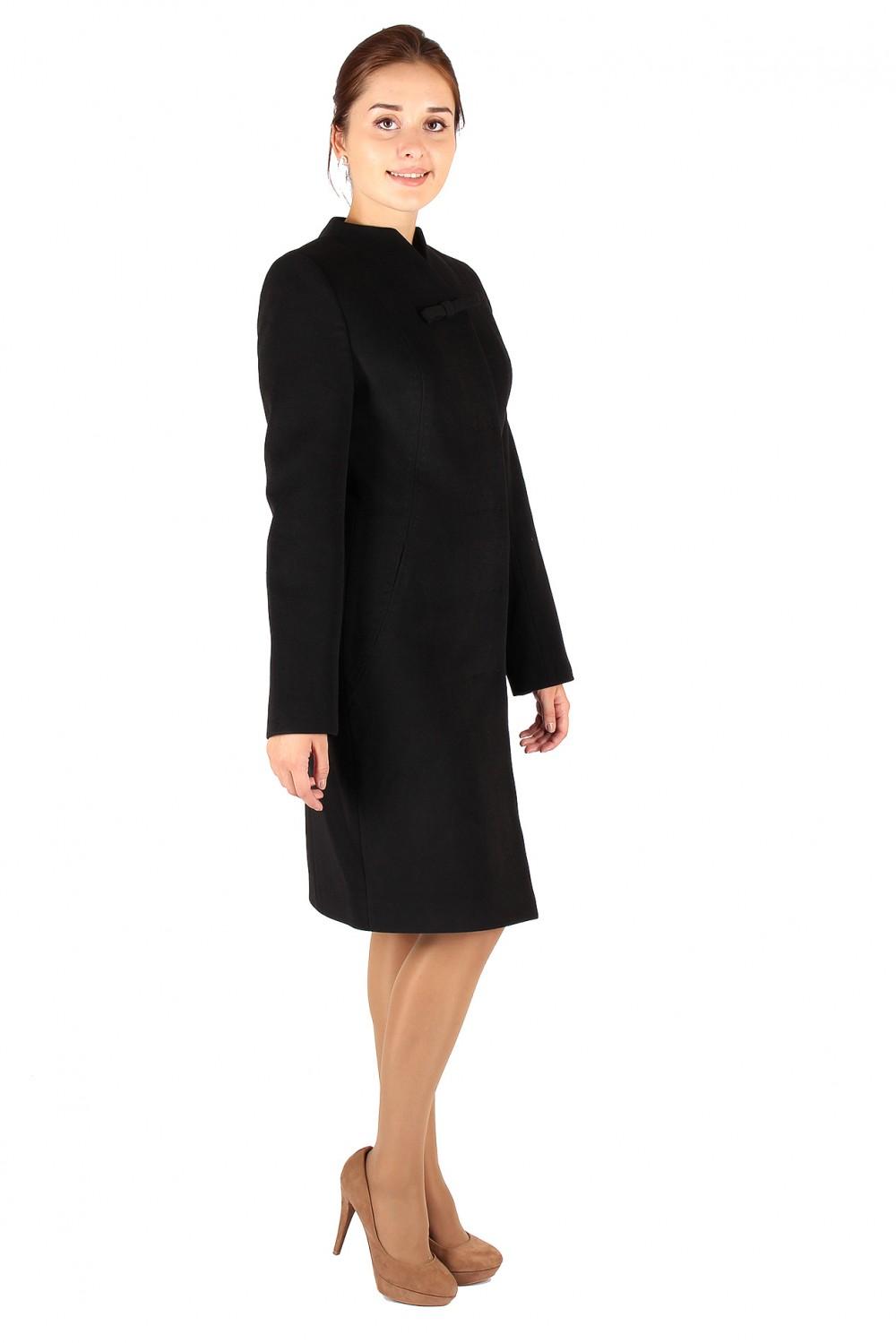 Купить оптом Пальто женское черного цвета 391Ch в Челябинске