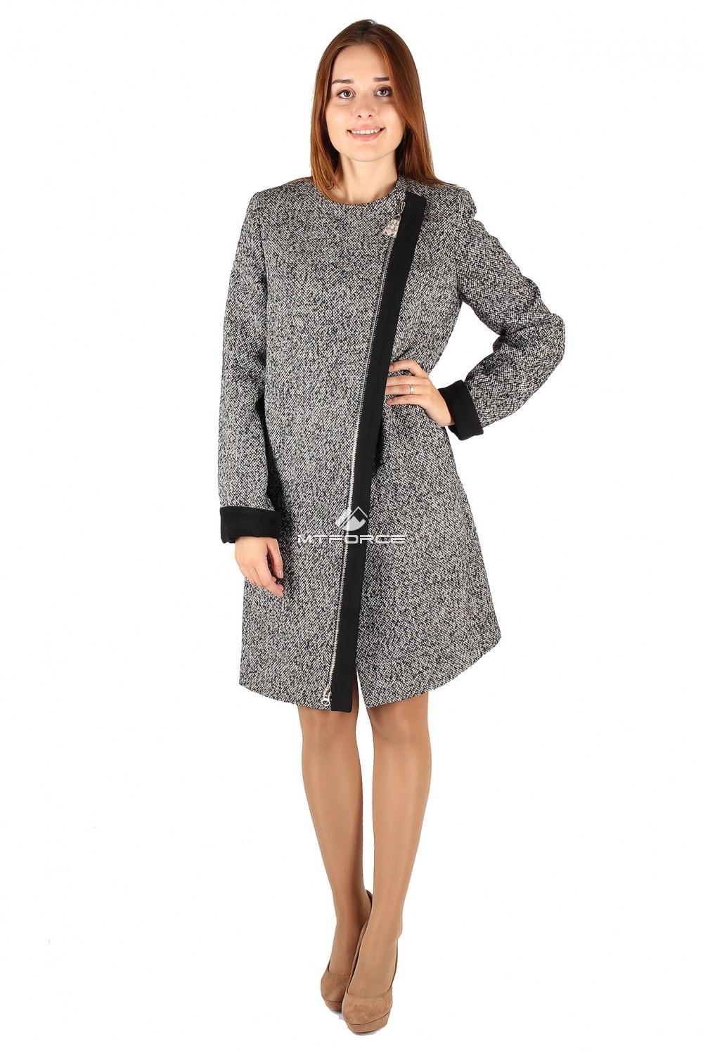 Купить                                  оптом Пальто женское серого цвета 394Sr