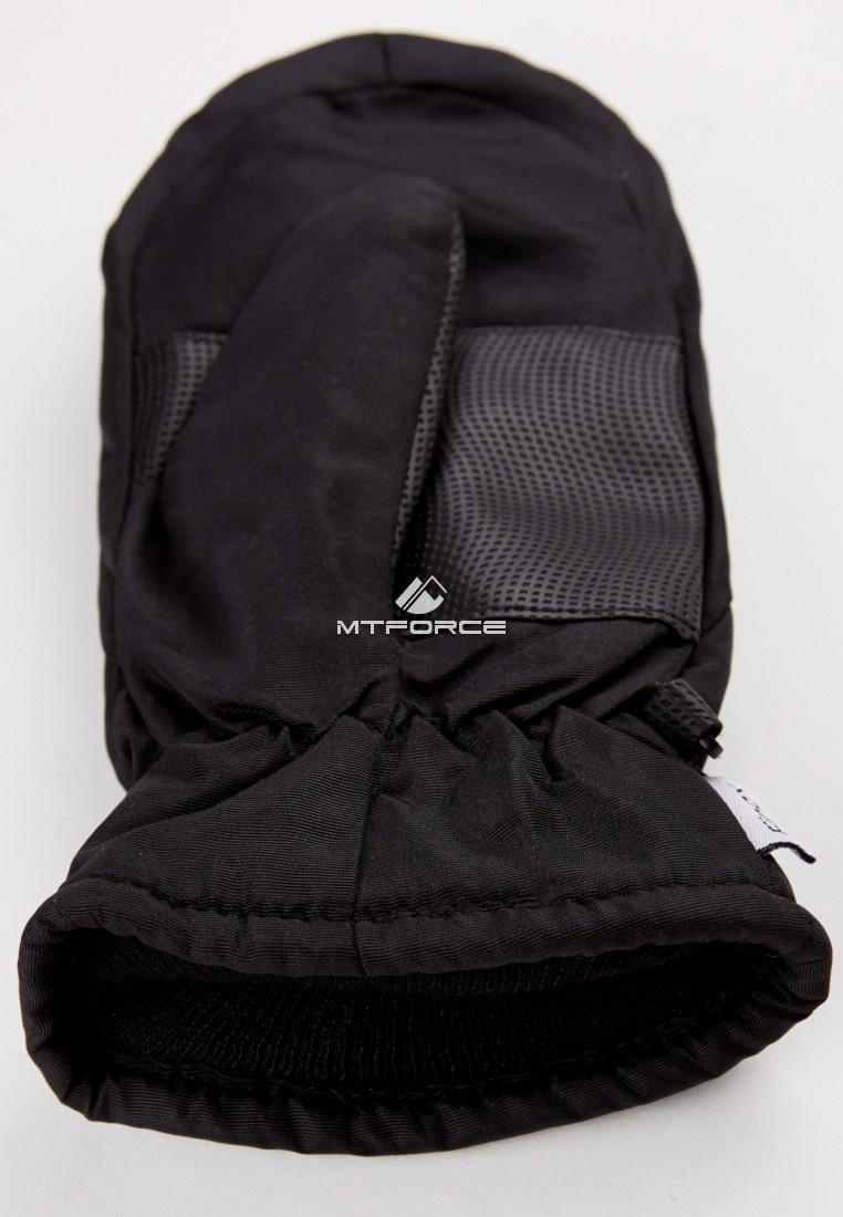 Купить оптом Рукавицы зимние подростковые черного цвета 399Ch