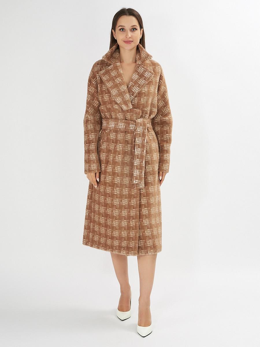 Купить оптом Пальто демисезонное бежевого цвета 4002B в Екатеринбурге