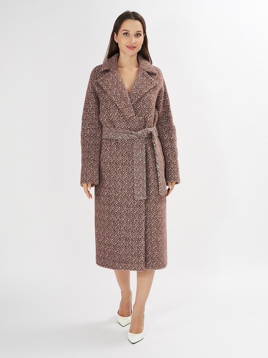 Купить оптом Пальто демисезонное темно-коричневого цвета 4002TK в Екатеринбурге