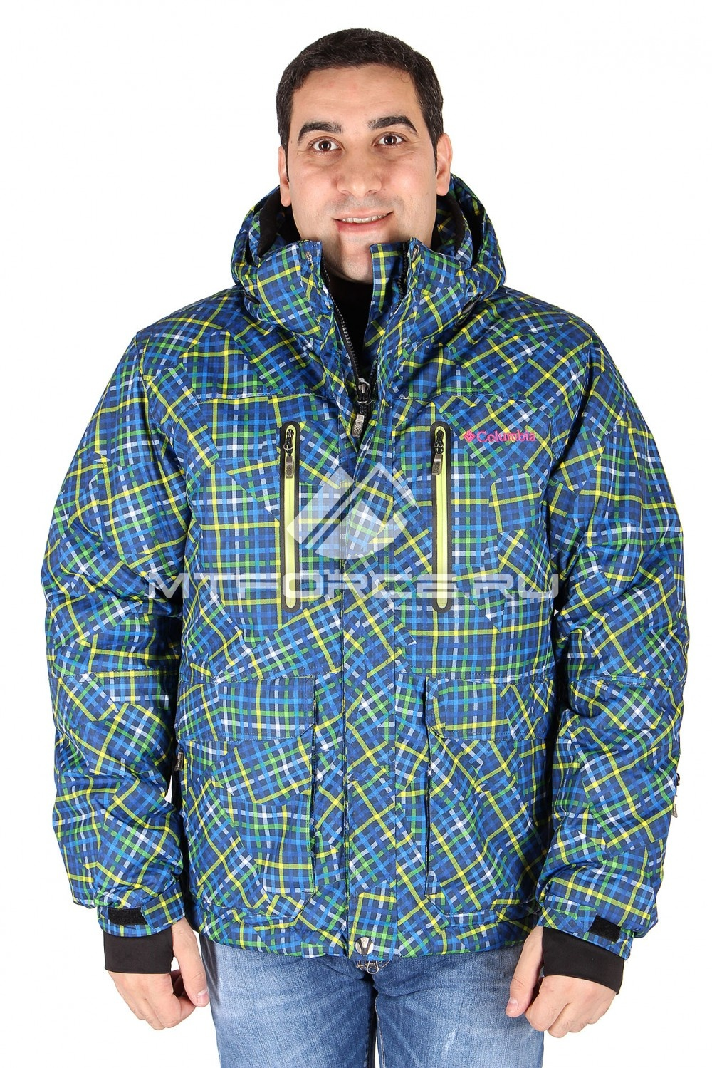 Купить                                  оптом Куртка спортивная зимняя мужская салатового цвета 4008Sl