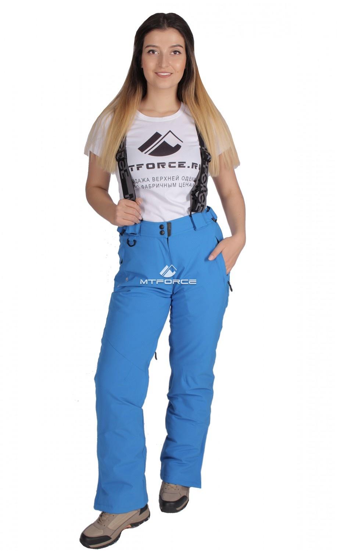 Купить  оптом Брюки горнолыжные женские синего цвета 403-1S