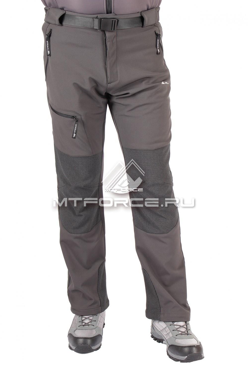 Купить оптом Брюки виндстопер мужские серого цвета 413Sr