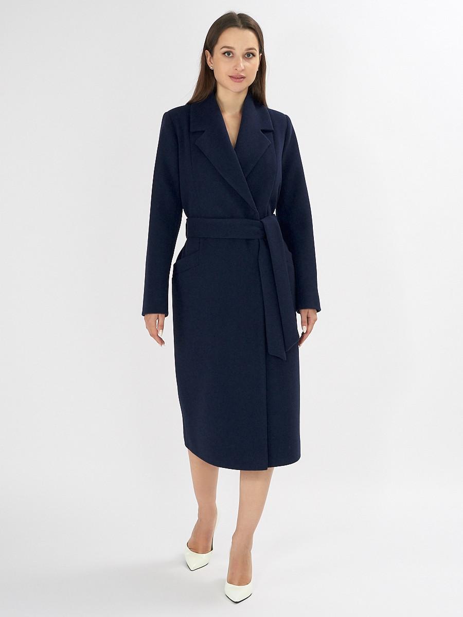 Купить оптом Пальто демисезонное темно-синего цвета 41803TS в Екатеринбурге