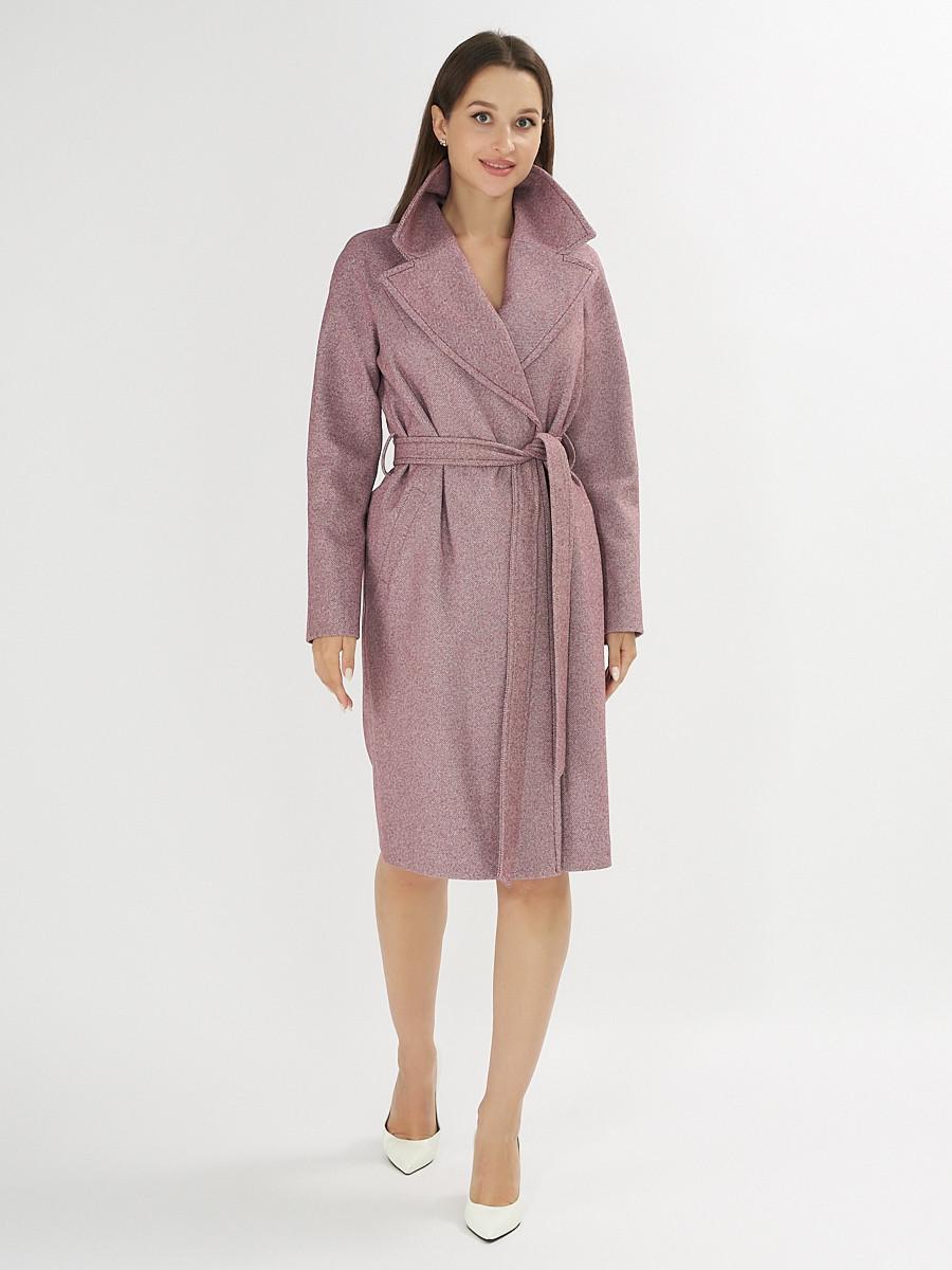 Купить оптом Пальто демисезонное фиолетового цвета 42038F в Екатеринбурге