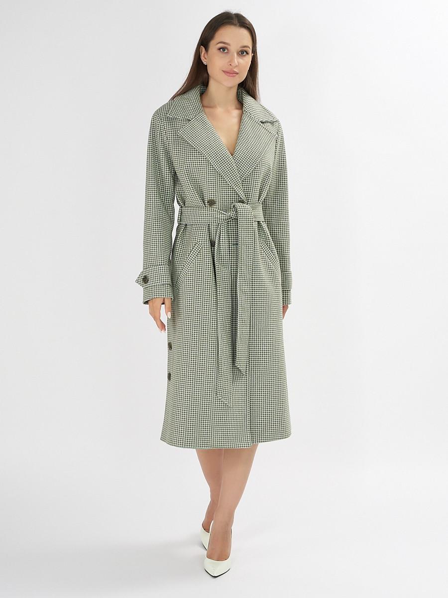 Купить оптом Пальто демисезонное зеленого цвета 42122Z в Екатеринбурге