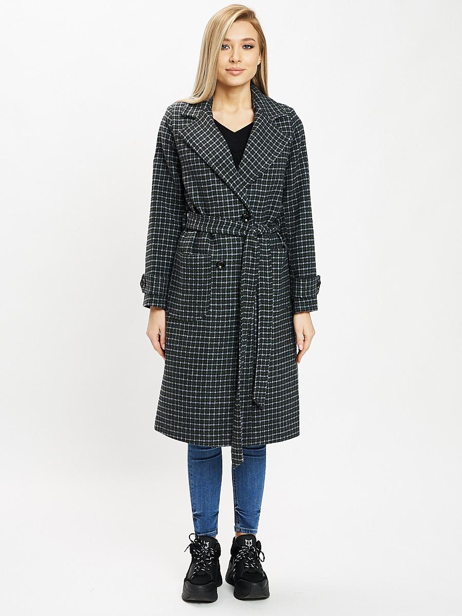 Купить оптом Пальто демисезонное темно-зеленого цвета 42123TZ в Екатеринбурге