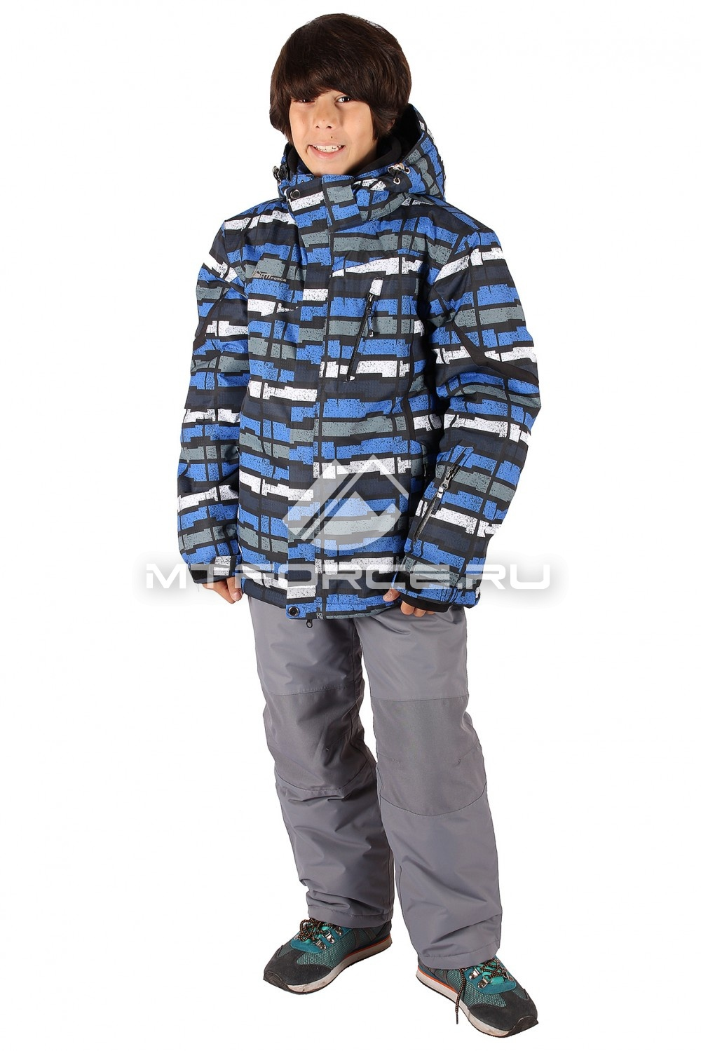 Купить                                  оптом Костюм горнолыжный  для мальчика синего  цвета 421S