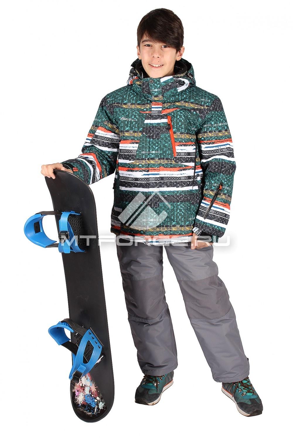 Купить                                  оптом Костюм горнолыжный  для мальчика зеленого цвета 422Z