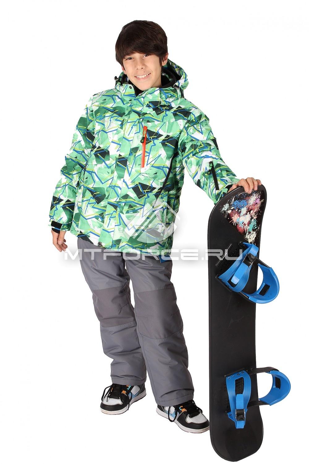 Купить                                  оптом Костюм горнолыжный  для мальчика зеленого цвета 423Z