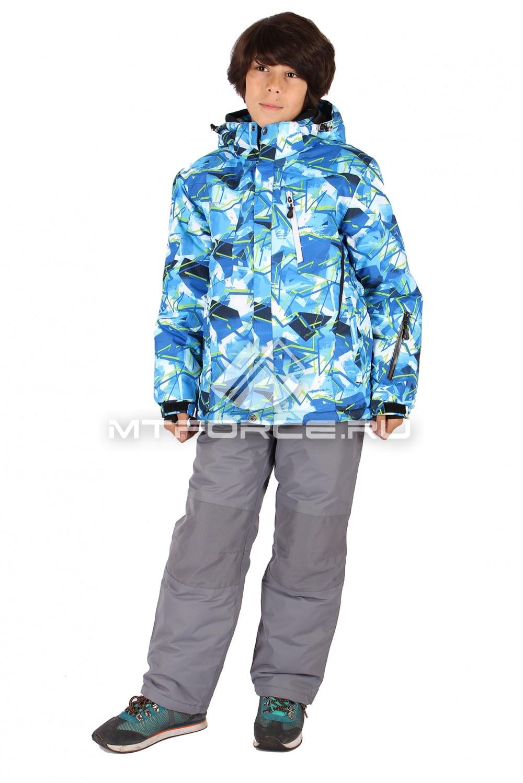 Купить                                  оптом Костюм горнолыжный  для мальчика голубого цвета 423Gl