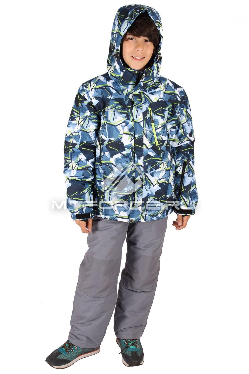 Купить                                  оптом Костюм горнолыжный  для мальчика темно-синего цвета 423TS