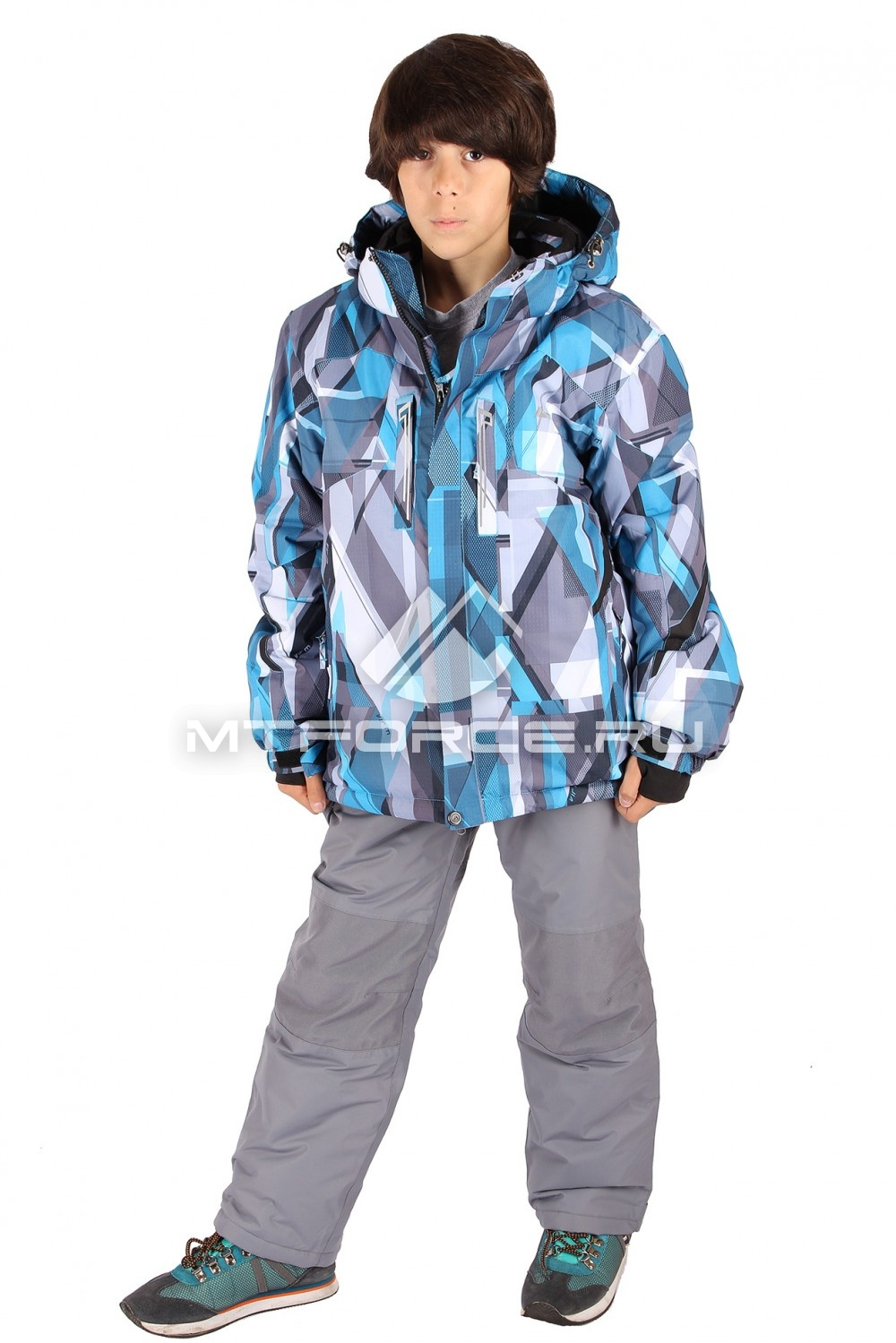 Купить                                  оптом Костюм горнолыжный  для мальчика голубого  цвета 424Gl