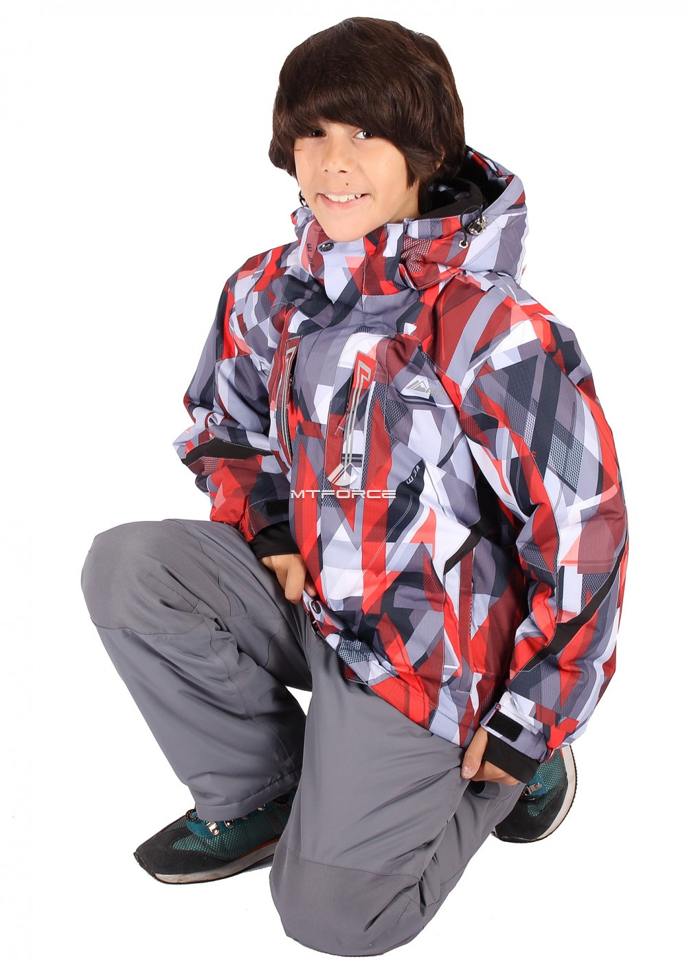 Купить оптом Костюм горнолыжный  для мальчика красного  цвета 424Kr в Волгоградке