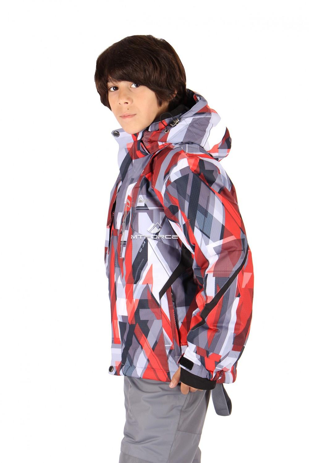 Купить оптом Костюм горнолыжный  для мальчика красного  цвета 424Kr в Казани