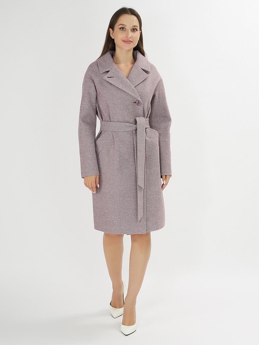 Купить оптом Пальто демисезонное фиолетового цвета 4263F в Екатеринбурге