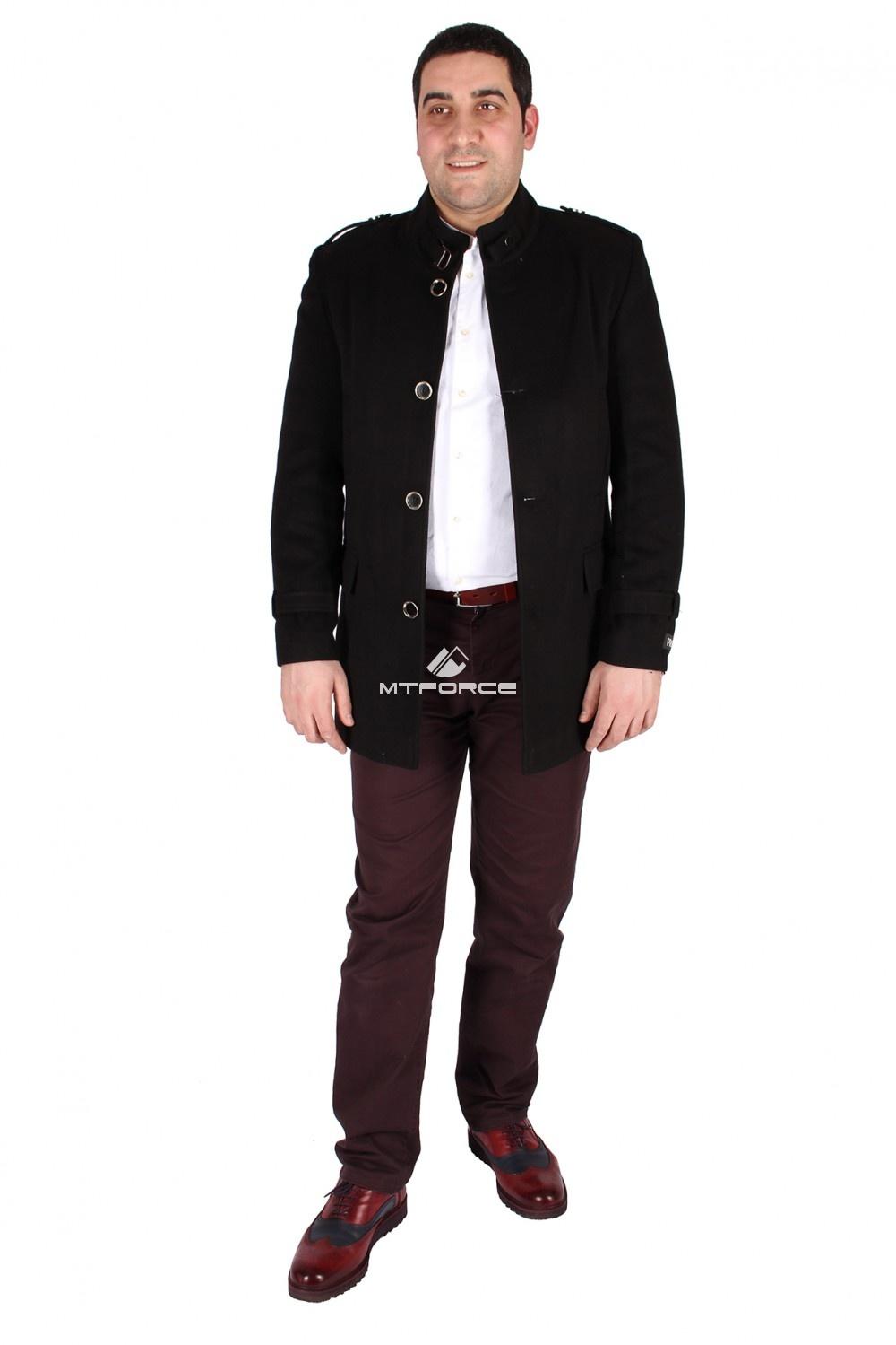 Купить                                  оптом Полупальто мужское черного цвета M32Ch