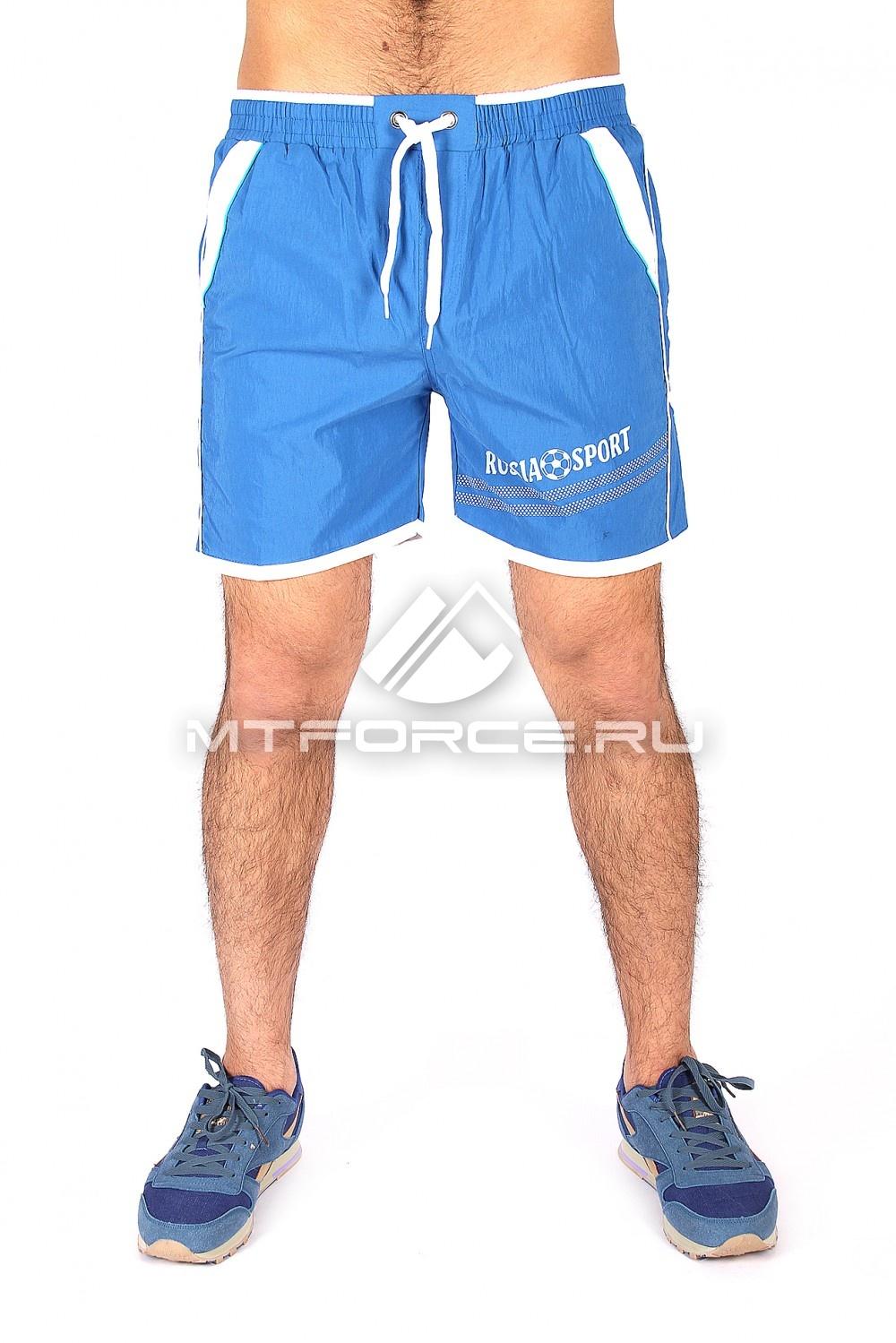Купить                                  оптом Спортивные шорты синего цвета 503S