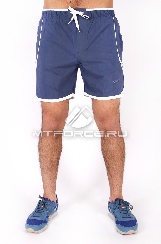 Купить оптом Спортивные шорты голубого цвета 512Gl