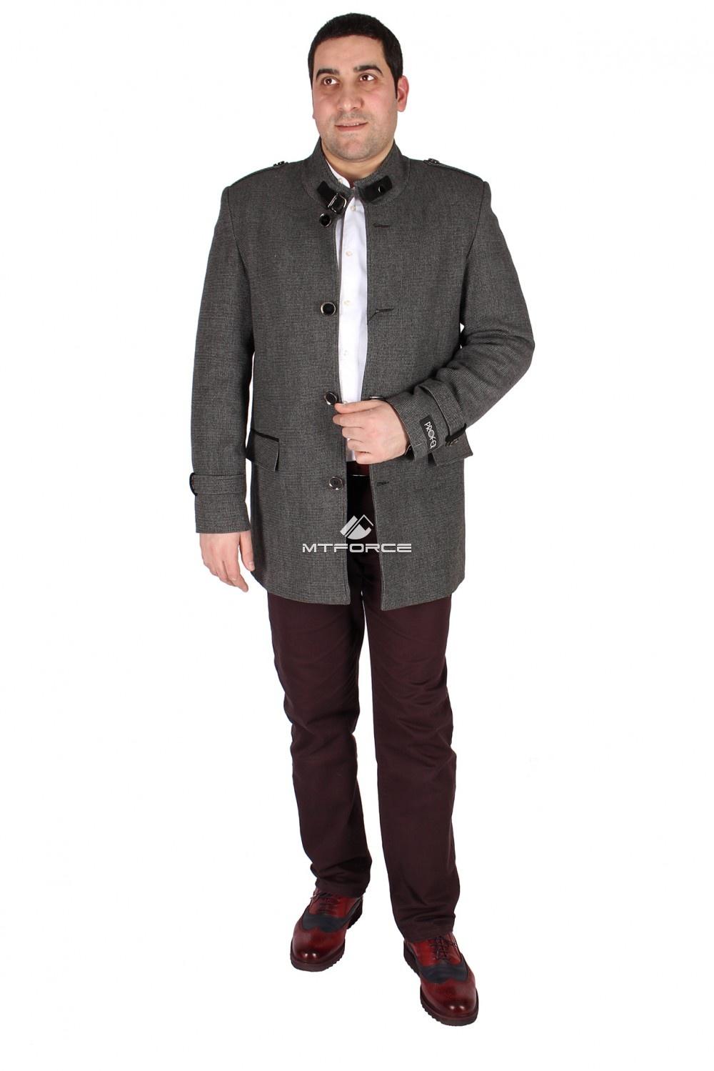 Купить оптом Полупальто мужское серого цвета M32Sr в Новосибирске