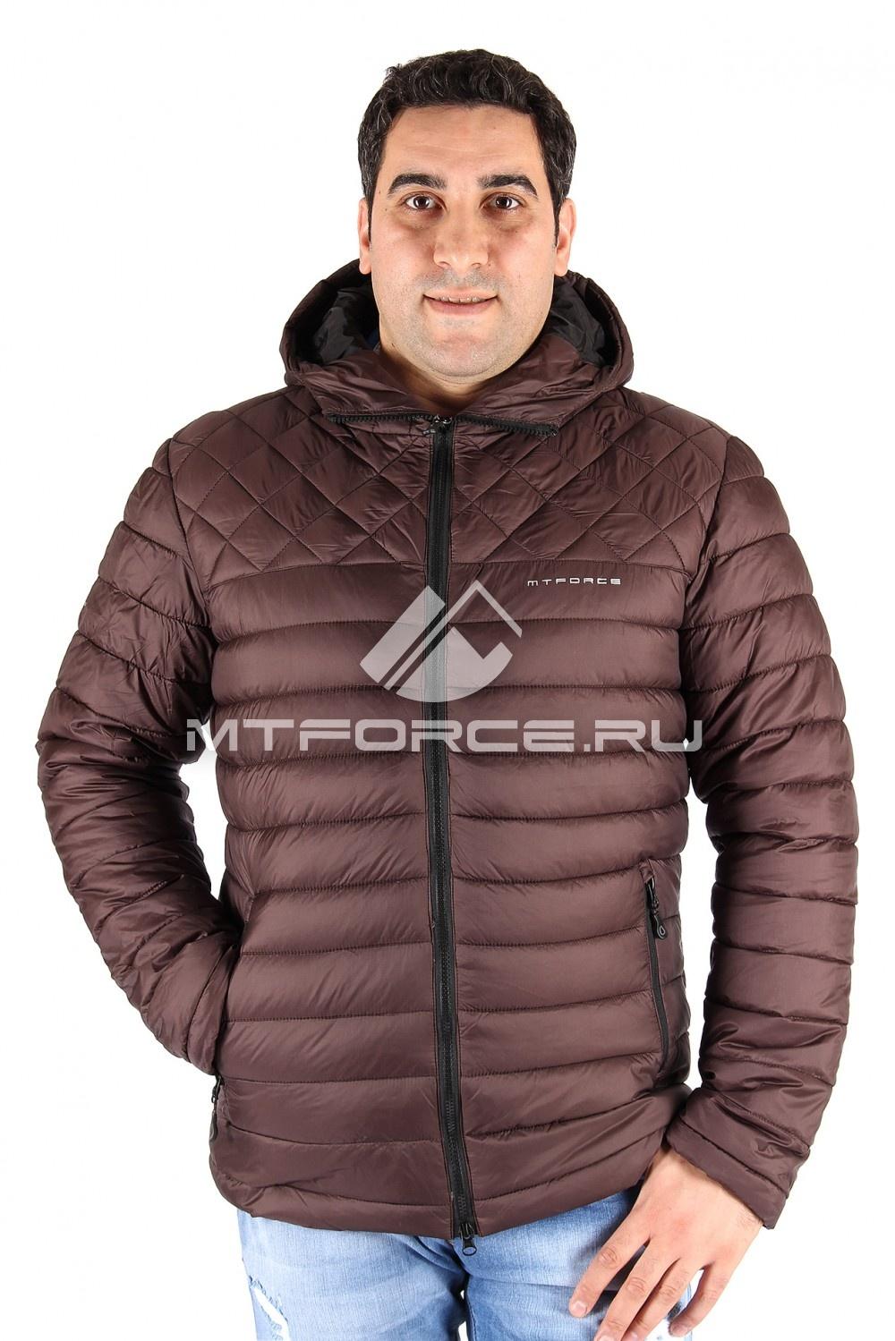 Купить                                  оптом Куртка мужская коричневого цвета 1618К в Санкт-Петербурге