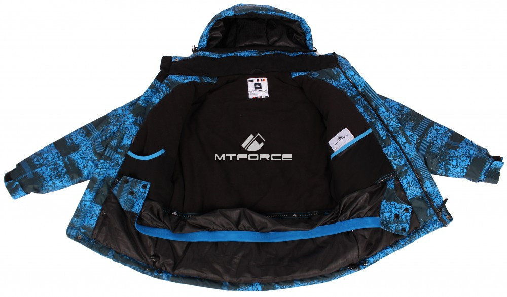 Купить оптом Костюм горнолыжный  для мальчика синего цвета 545-1S в Новосибирске